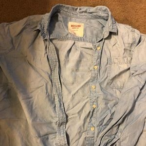 Chambray/denim Button Up